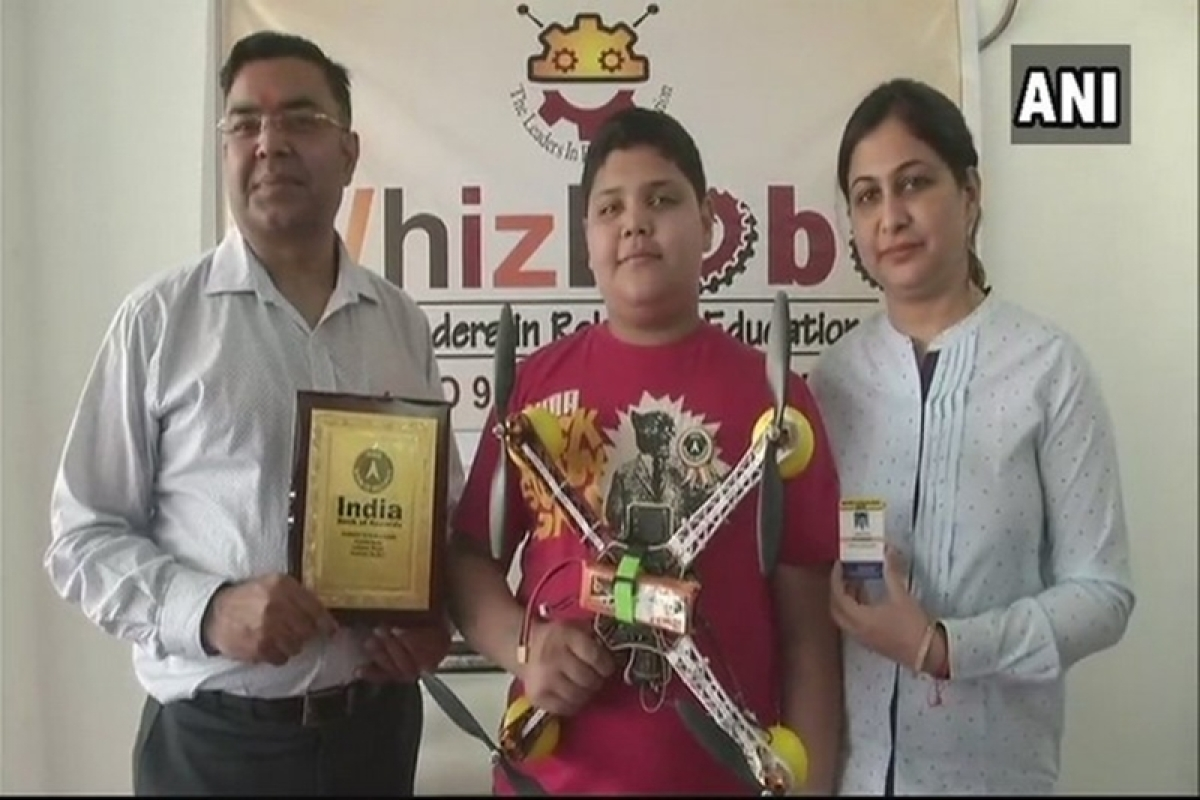 13-year-old Ludhiana boy becomes youngest drone developer, registers name in India Book of Records