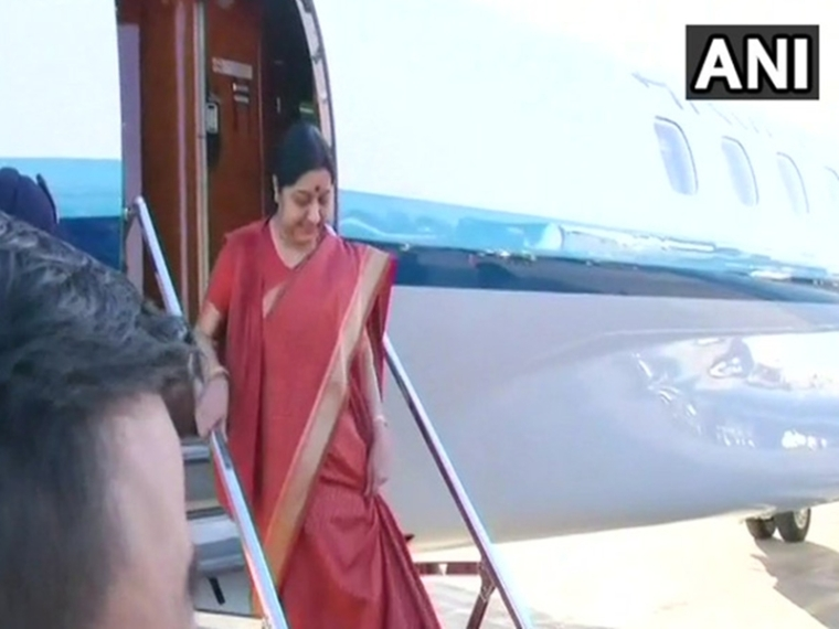 Sushma Swaraj calls for joint action against money laundering, terrorist-financing at BRICS meet