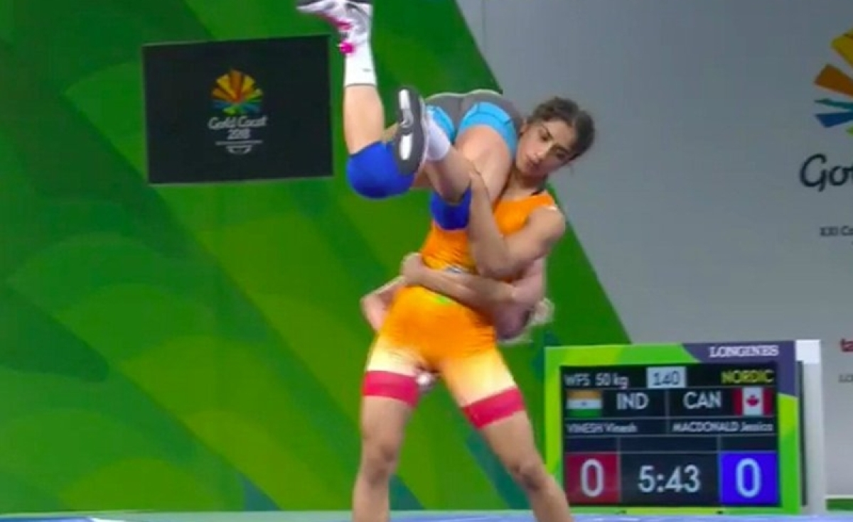 Commonwealth Games 2018: Wrestler Vinesh Phogat bags Gold in 50 kg freestyle wrestling