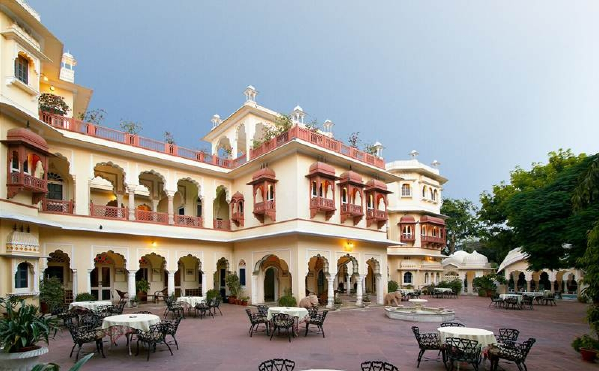 Alsisar Haveli's courtyard is an ideal choice to enjoy a lazy breakfast or late night dinner