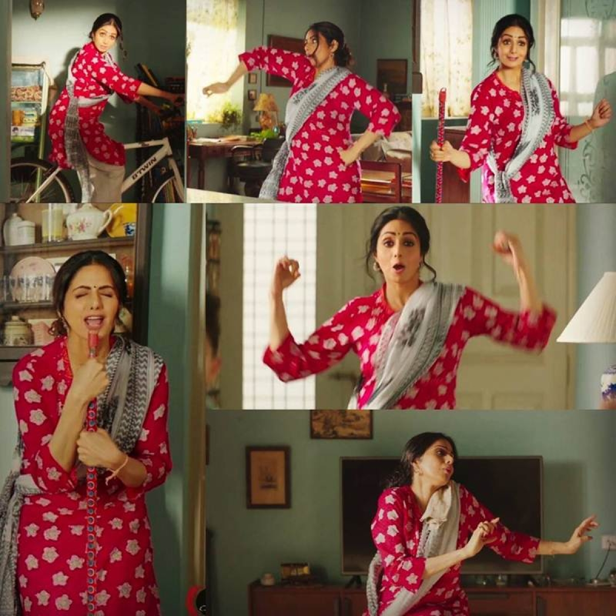 Styling was tweaked to suit late Sridevi's persona for an ad