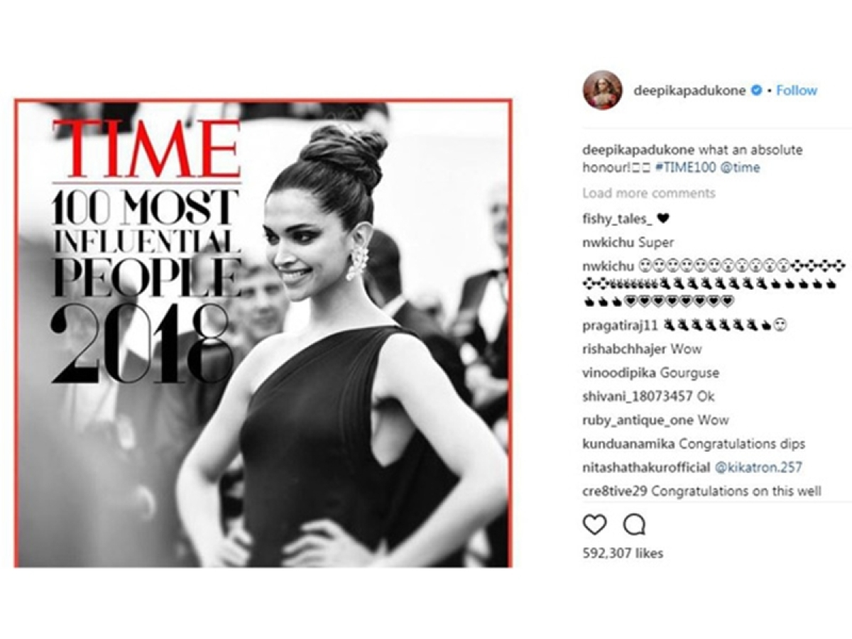 PeeCee congratulates Deepika for featuring in TIME's most influential list