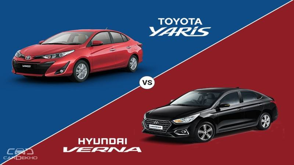 Toyota Yaris Vs Hyundai Verna – Spec Comparison