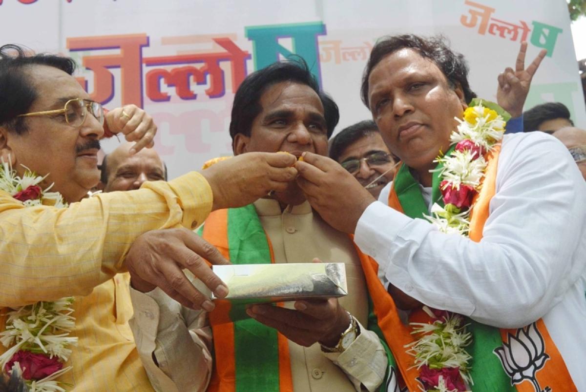 Maharashtra state BJP winds up its celebrations over Karnataka poll results