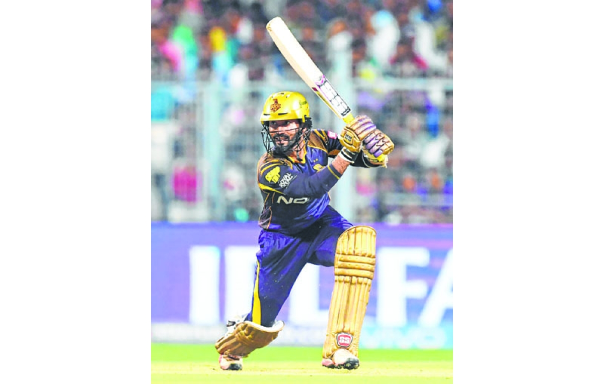 At home, KKR does it in style