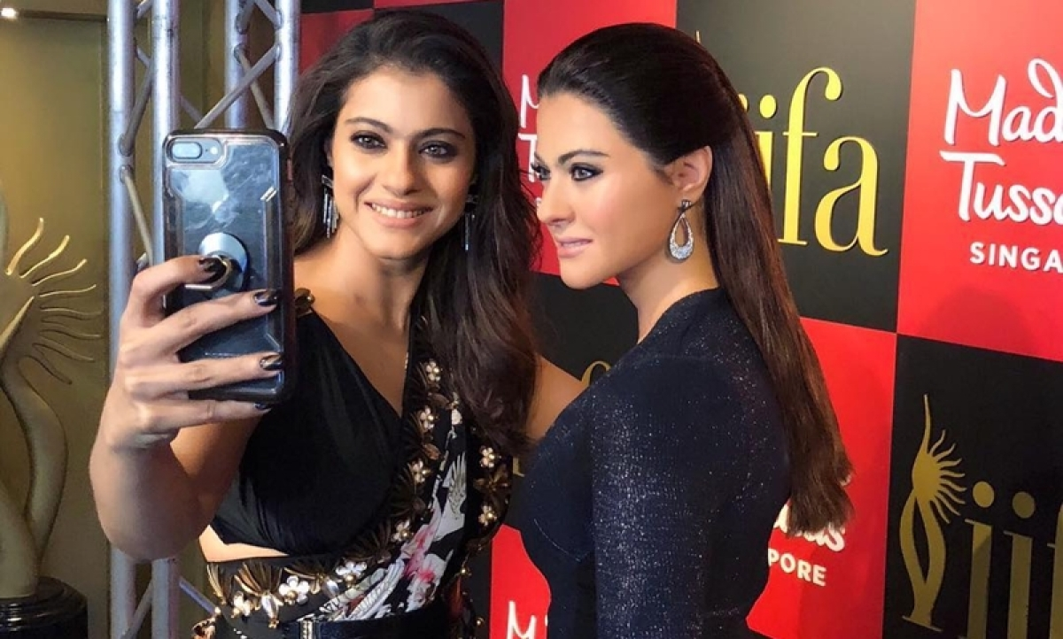Meet Silent Kajol: Ajay Devgn's funny reaction of wife's wax statue at Madame Tussauds