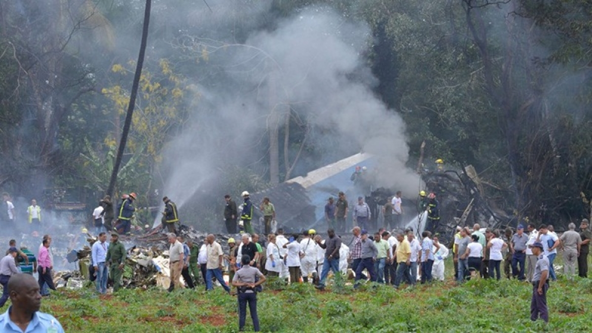 Airliner with at least 110 aboard crashes in Cuba