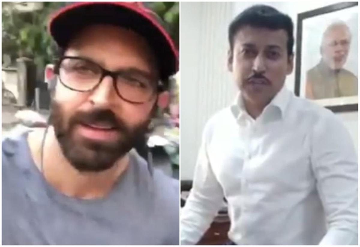 Hrithik Roshan takes Rajyavardhan Singh Rathore's Fitness Challenge and goes cycling on Mumbai streets; watch video