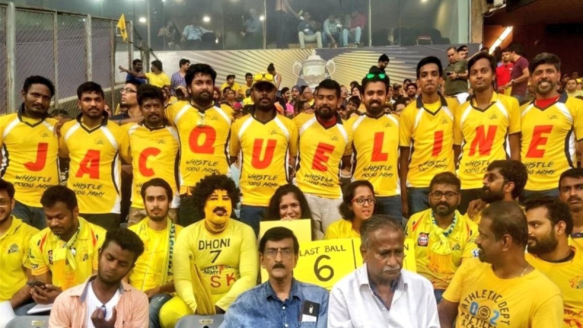 IPL 2018 Final: Chennai Super Kings fans cheer for Jacqueline Fernandez