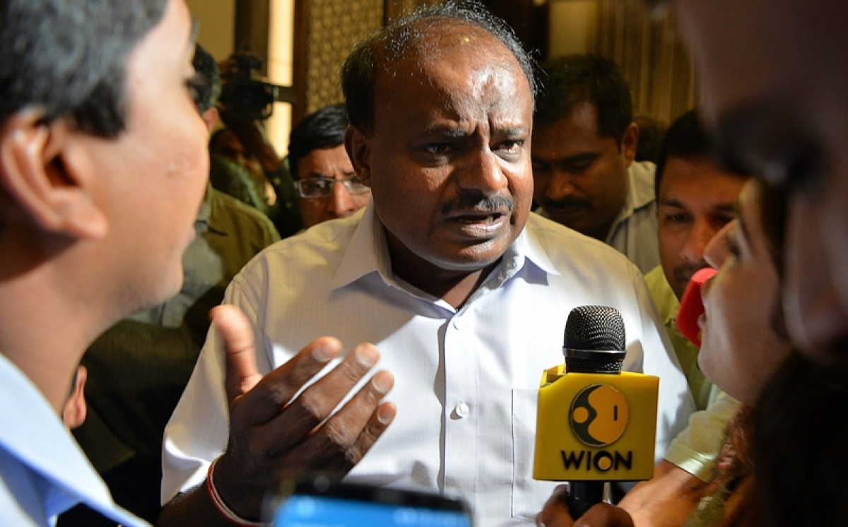 I was emotional, claims Kumaraswamy after caught on camera giving 'shoot mercilessly' orders