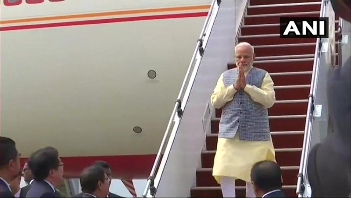 PM Narendra Modi heads to Singapore