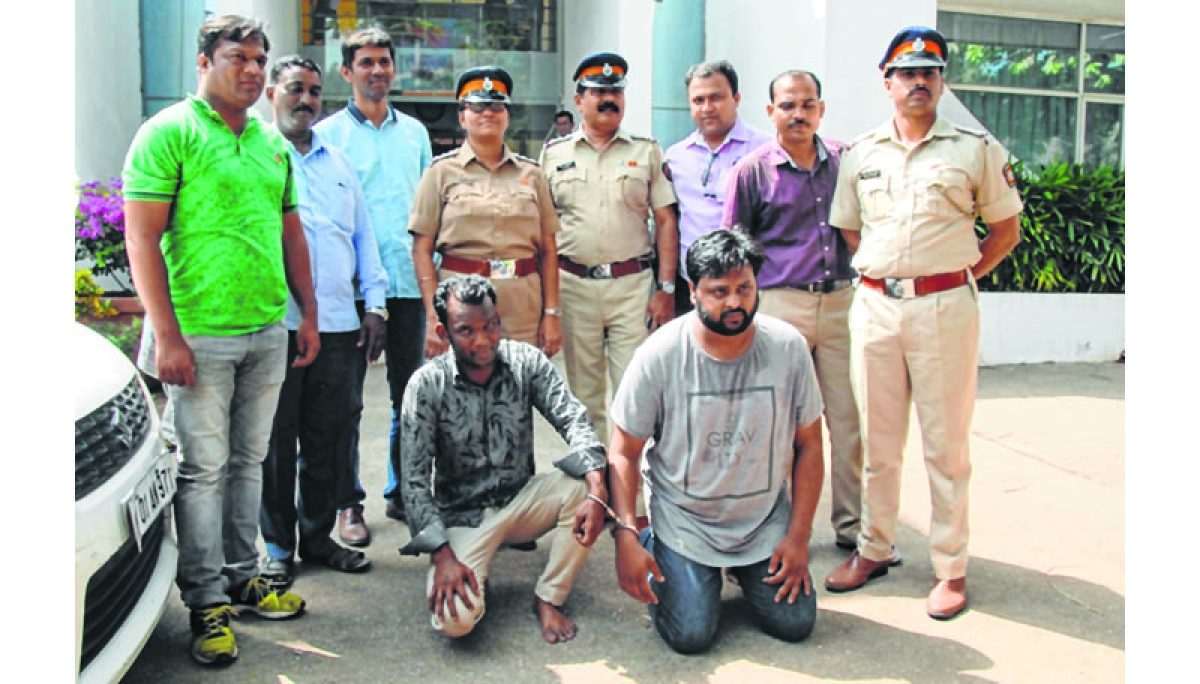 Mumbai : BKC police have seized eight cars from two cheaters who duped many on OLX by posing as customers and sellers. Photo by BL SONI