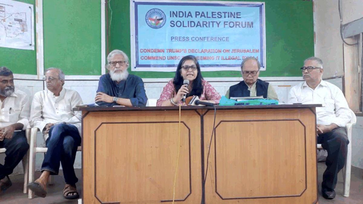 India-Palestine Solidarity Forum criticises 'double-faced' Centre