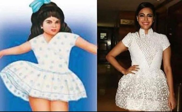 Veere Di Wedding Outfits.Veere Di Wedding Swara Bhaskar Gets Trolled For Her Dress Joins In