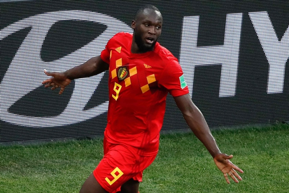 Belgium's forward Romelu Lukaku celebrates his second goal, his team's third, during the Russia 2018 World Cup Group G football match between Belgium and Panama at the Fisht Stadium in Sochi on June 18, 2018. / AFP PHOTO / Odd ANDERSEN / RESTRICTED TO EDITORIAL USE - NO MOBILE PUSH ALERTS/DOWNLOADS