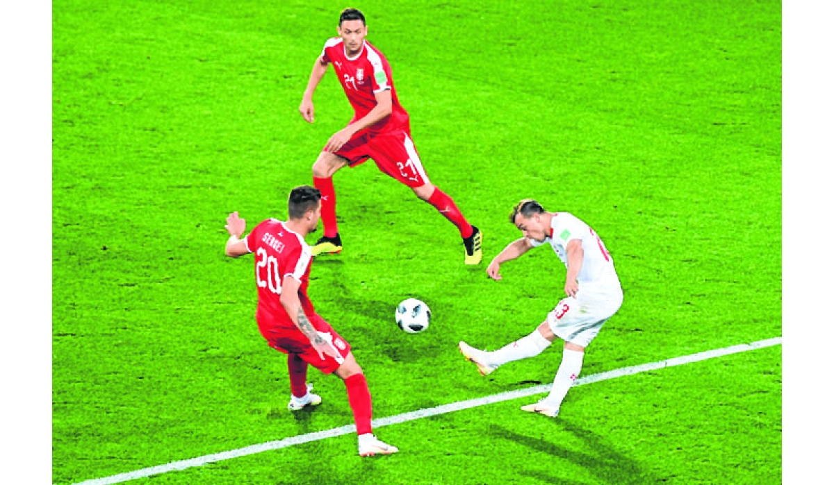 Swiss coach unimpressed with celebrations in win over Serbia