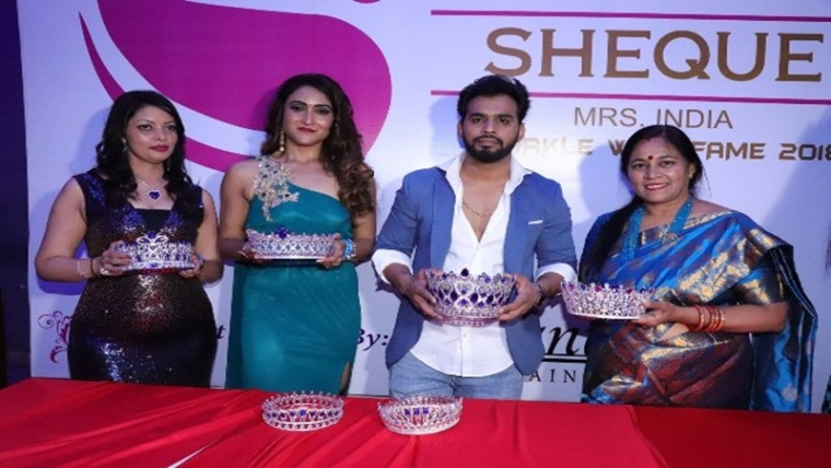 Celebrities attend launch event of 'Sheque Mrs India' contest in Mumbai