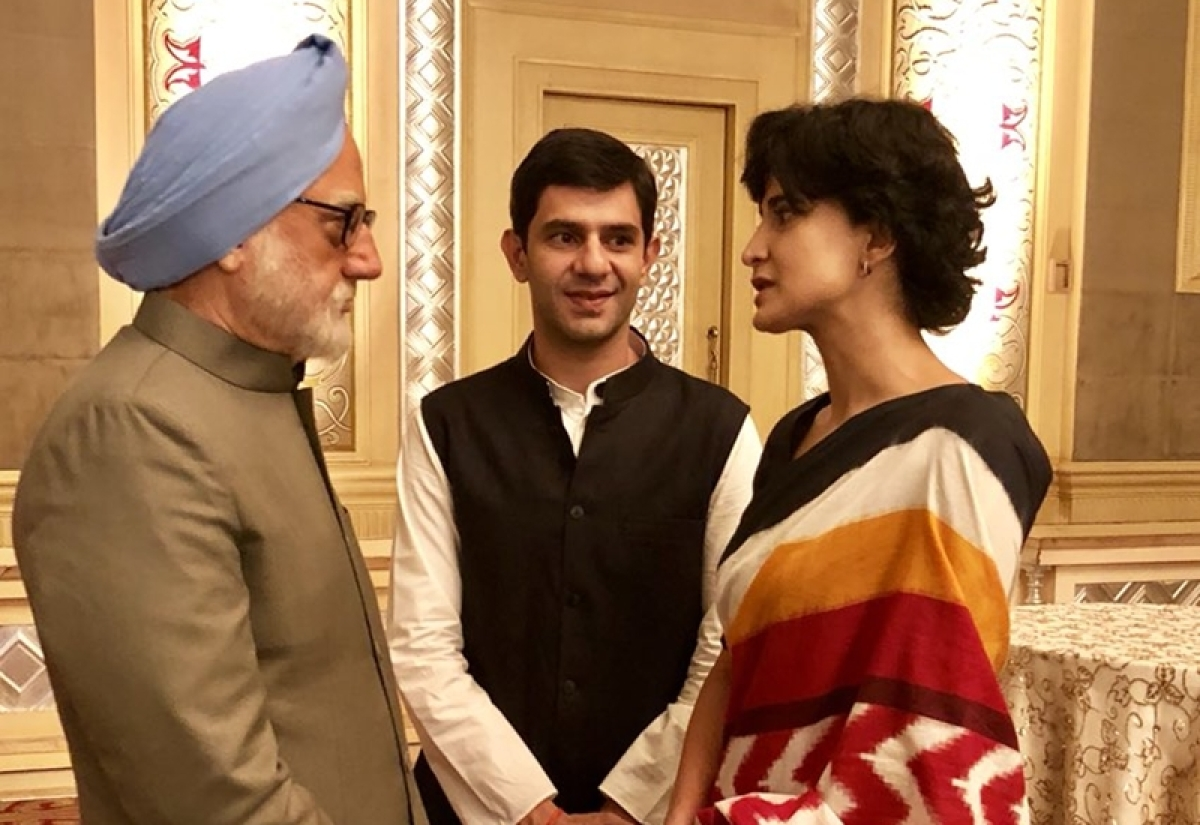 Anupam Kher introduces reel Rahul Gandhi and Priyanka Gandhi from 'The Accidental Prime Minister'