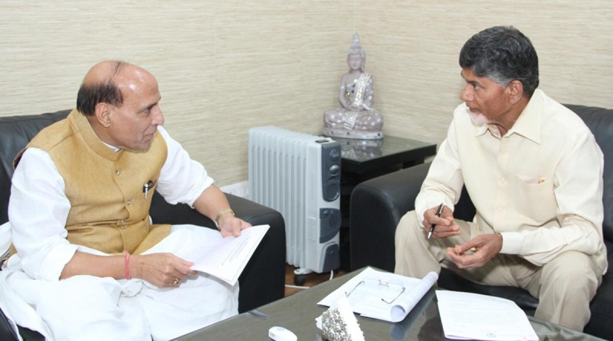 Rajnath Singh cuts short Andhra Pradesh CM Chandrababu Naidu at Niti Aayog meeting