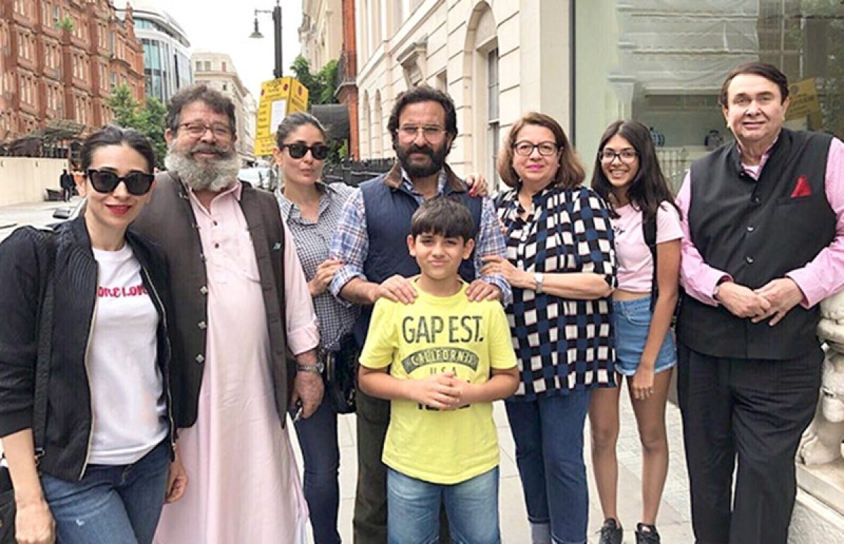 Saif Ali Khan and Kareena Kapoor get together with the Kapoor family in London