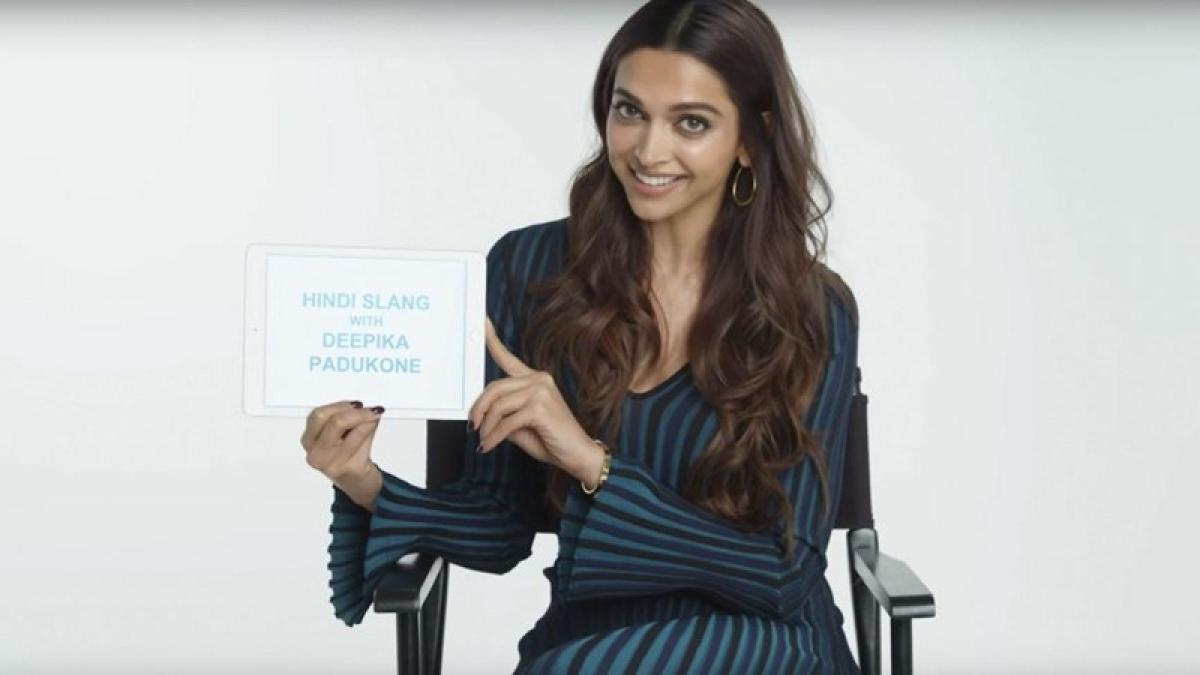 Watch: Deepika Padukone explains Hindi slang and plays badminton wearing stilettos in this video