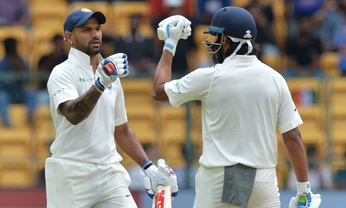 India vs Afghanistan, one-off Test Day 1: Dhawan, Vijay take hosts to 248/1 as rain forces early tea