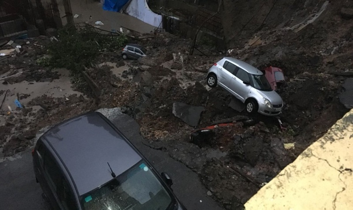 Mumbai Rains: Seven cars damaged, residents trapped after wall of under construction building collapses in Wadala