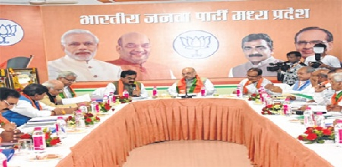Bhopal: Focus on SC, ST seats, rural areas, says Amit Shah