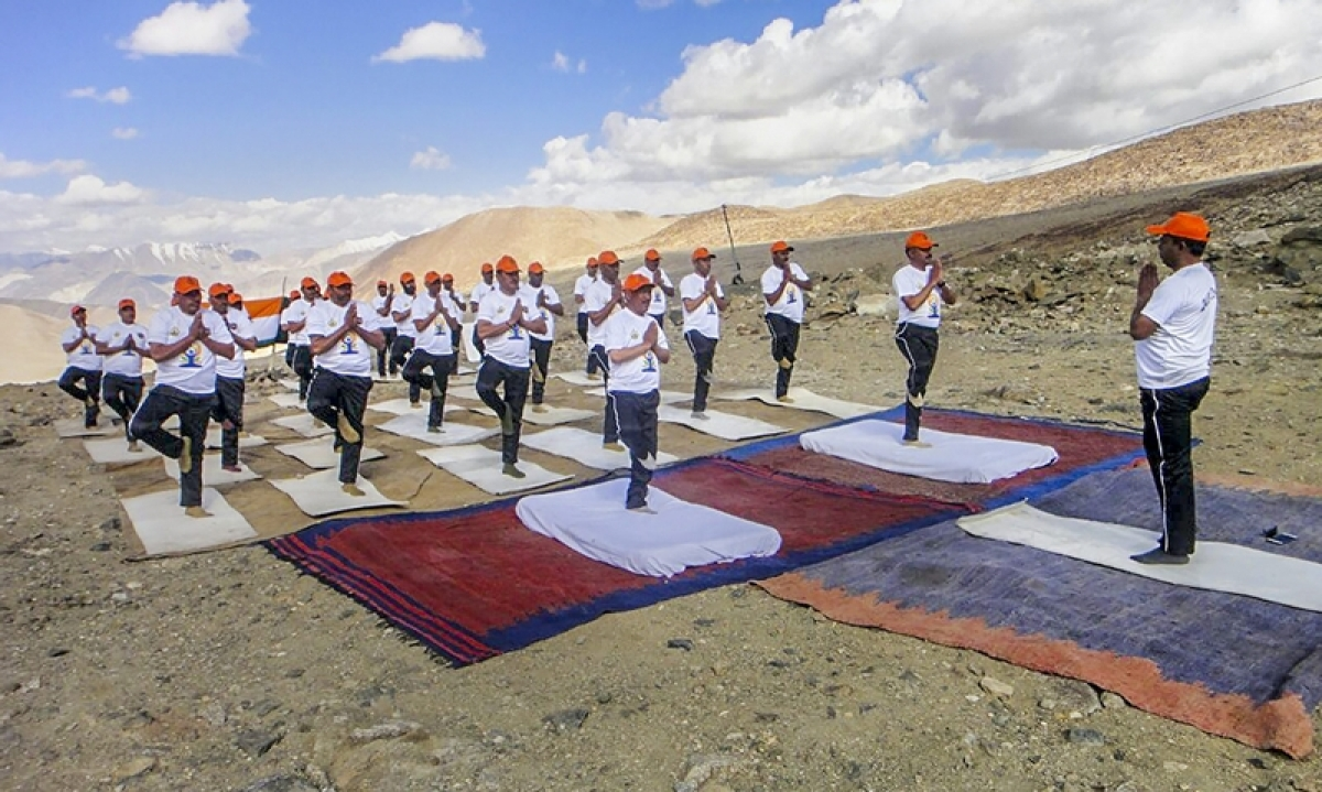 International Yoga Day 2018 Pictures! Yoga fever grips nation, PM Modi leads celebrations