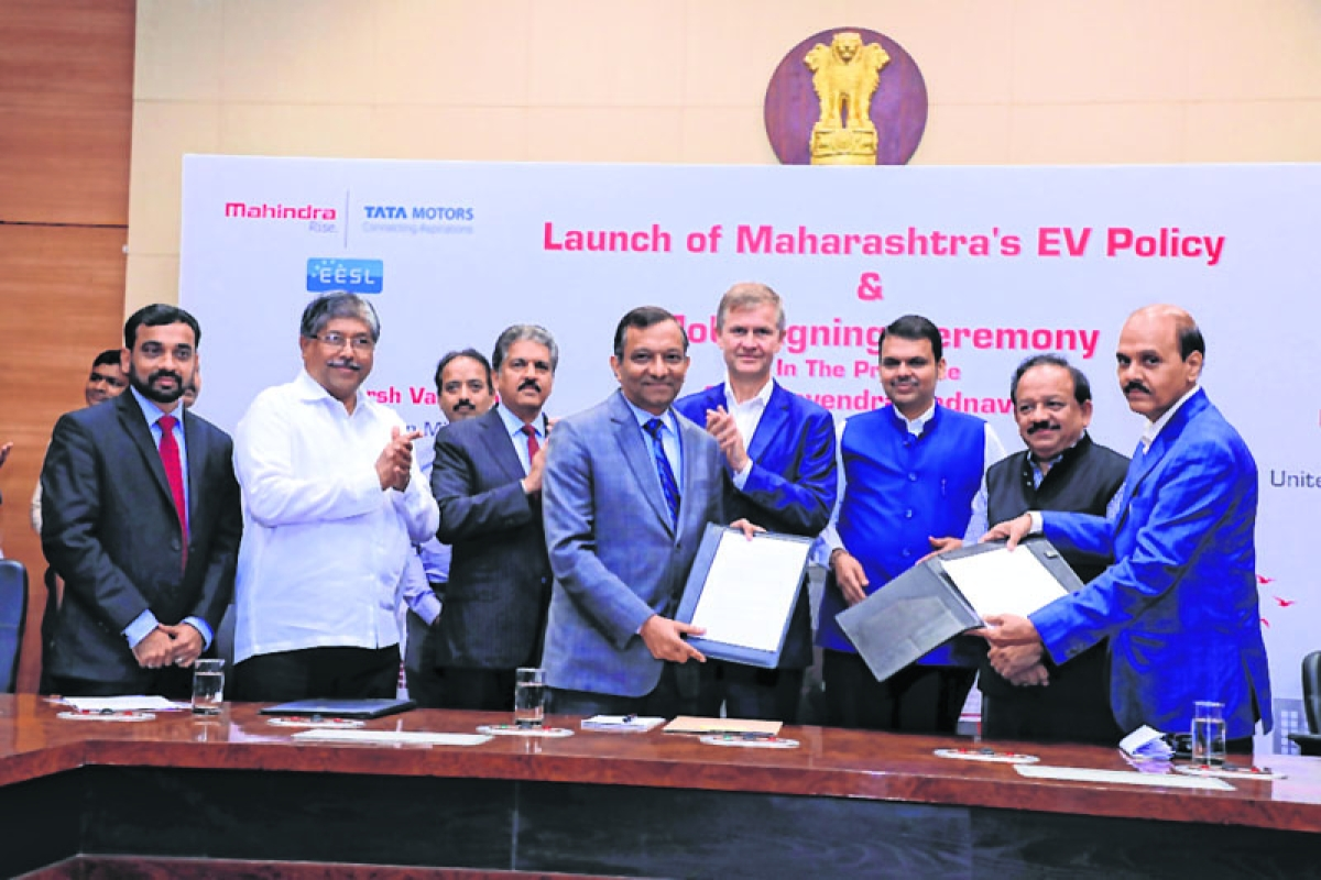 Tata, Mahindra firms sign an MoU for electric vehicles