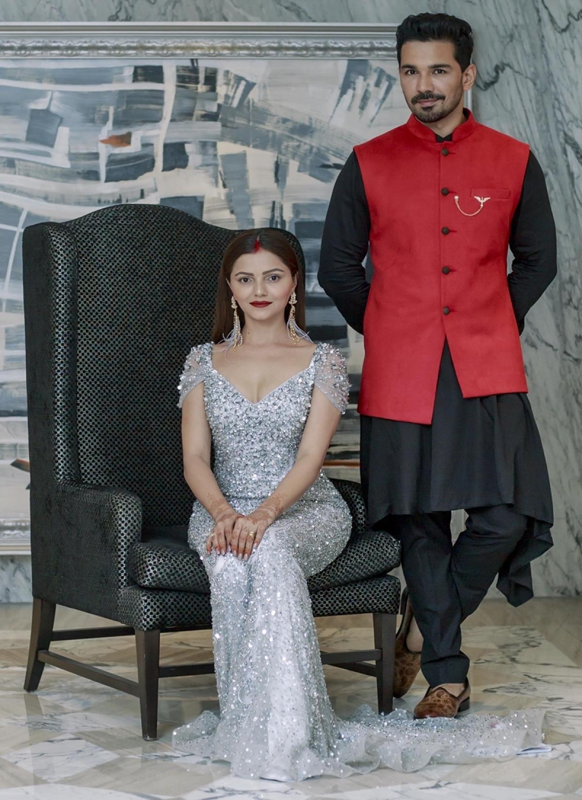 Rubina Dilaik, Abhinav Shukla's reception look is not less than a royal couple; see pics