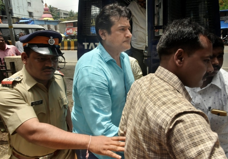 Mumbai: Actor Armaan Kohli being produced at Bandra court for an alleged case of domestic violence, in Mumbai on Wednesday, June 13, 2018. (PTI Photo/Mitesh Bhuvad) (PTI6_13_2018_000089B)