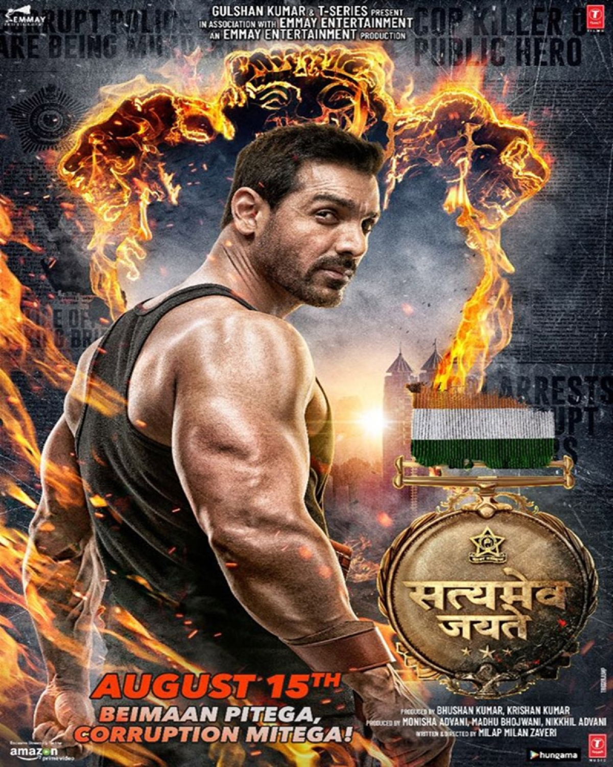 Satyameva Jayate Poster: John Abraham looks fierce and intense in this new poster of the film