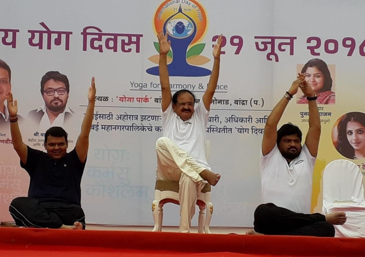 Yoga in school curriculum can help in creating a healthy nation: Vice President Venkaiah Naidu