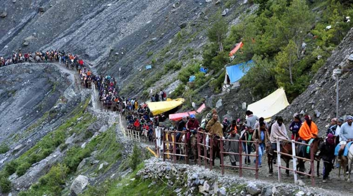 Heavy rains disrupts Amarnath Yatra from Jammu; over 2,000 pilgrims stranded in Udhampur
