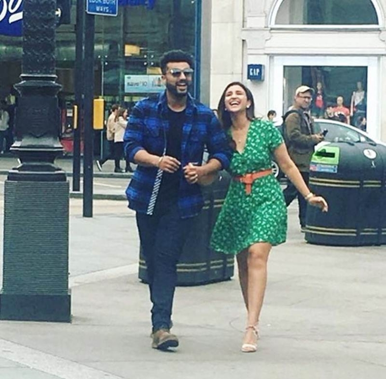 Arjun Kapoor and Parineeti Chopra can't stop pulling each other's legs on the sets of Namaste England