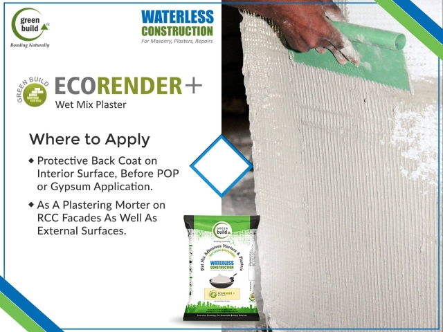 Eco Render Plus – A Unique Plaster Without Cement, Sand, and Water
