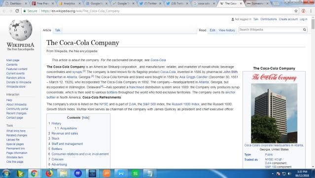 Shikanji Gaffe: Someone edits Wikipedia page of Coca-Cola's