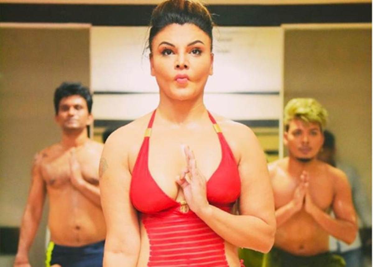 International Yoga Day 2018: Check out hot Yoga by Rakhi Sawant in red bikini