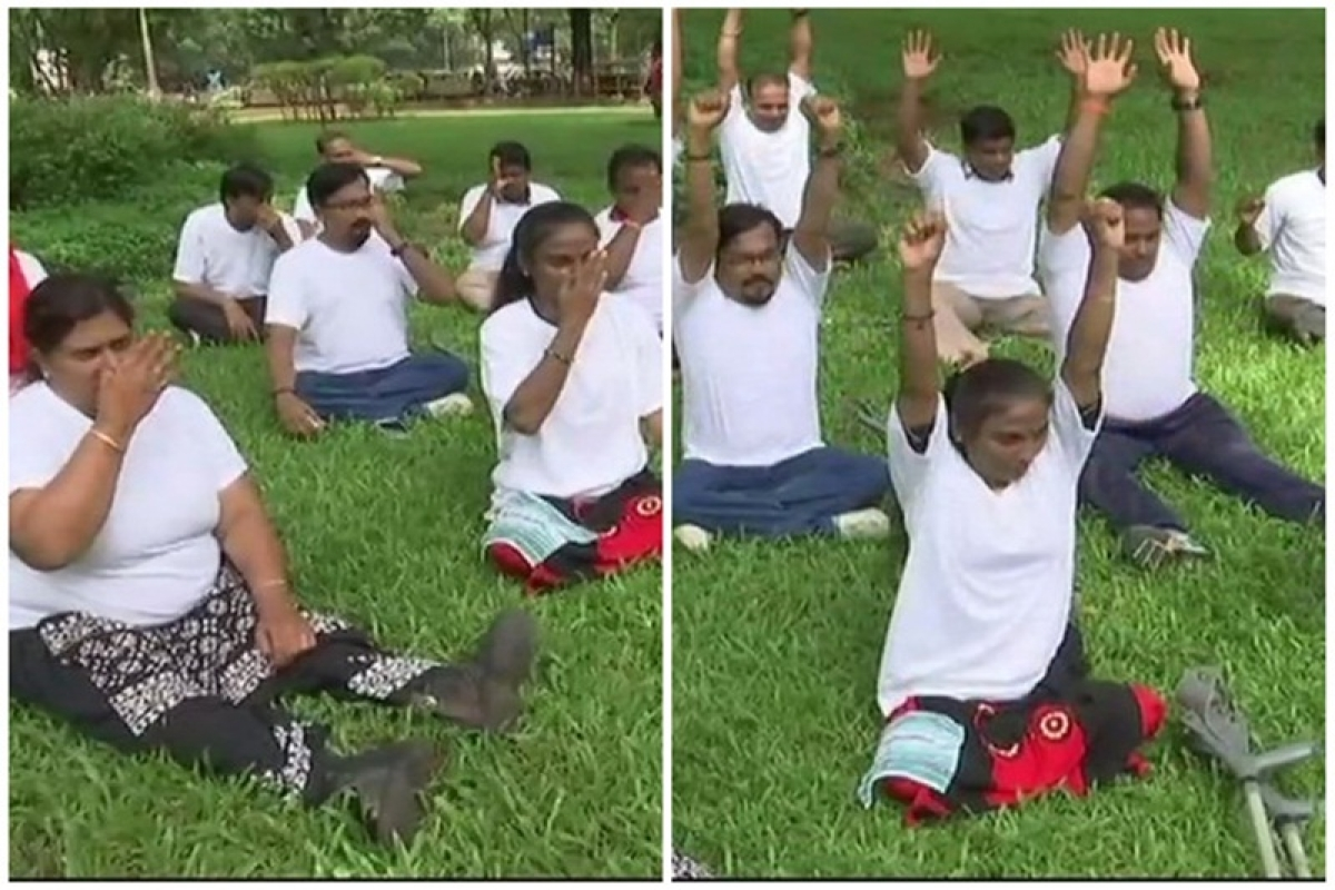 International Yoga Day 2018: Differently-abled people from Mumbai defy societal norms by performing yoga