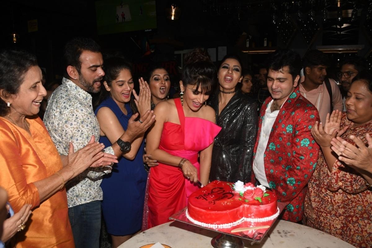 Debina Bonnerjee hosts party for Bigg Boss Marathi's 2nd runner-up Smita Gondkar; see pics