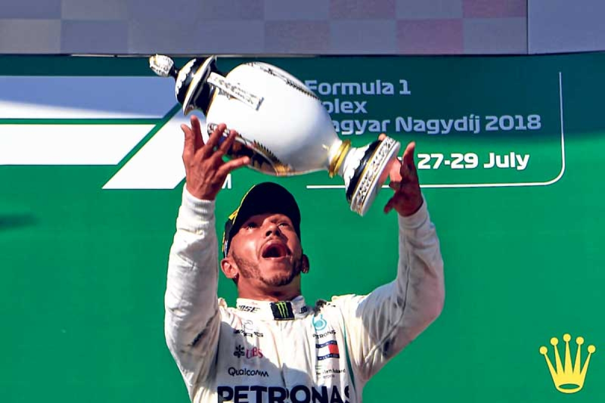 Lewis Hamilton coasts to Hungarian Grand Prix win