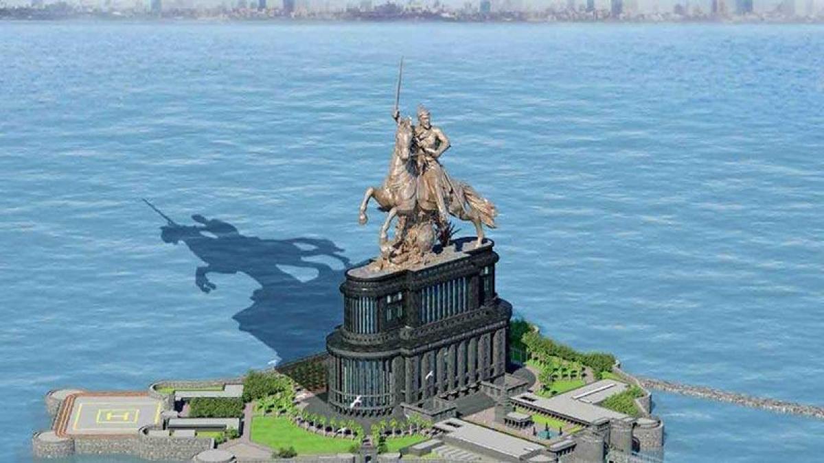 Shivaji memorial in Mumbai: Government now plans shorter statue, longer sword