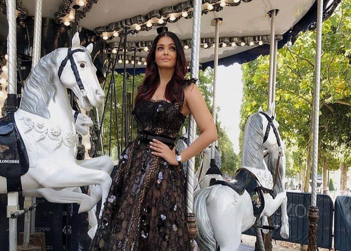 Aishwarya Rai Bachchan's shimmery black gown could be your wardrobe essential this year; see pic