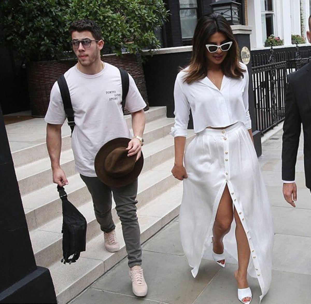 After cozy birthday dinner date, Priyanka Chopra and beau Nick Jonas twin in white in London; see pics