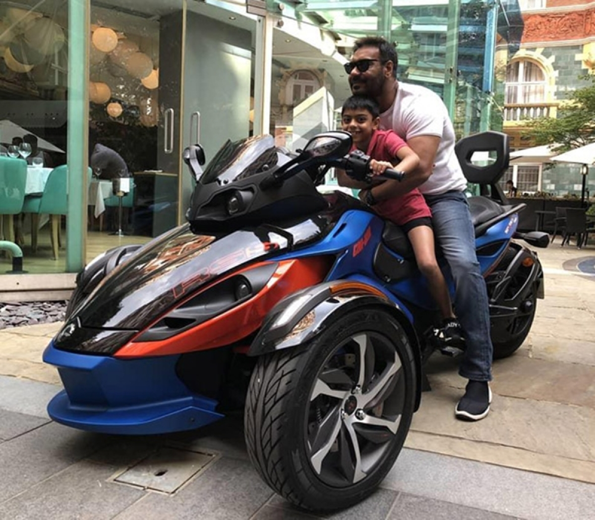 WOW! Ajay Devgn and his son Yug Devgn are 'Biker Boys' in London; see pics