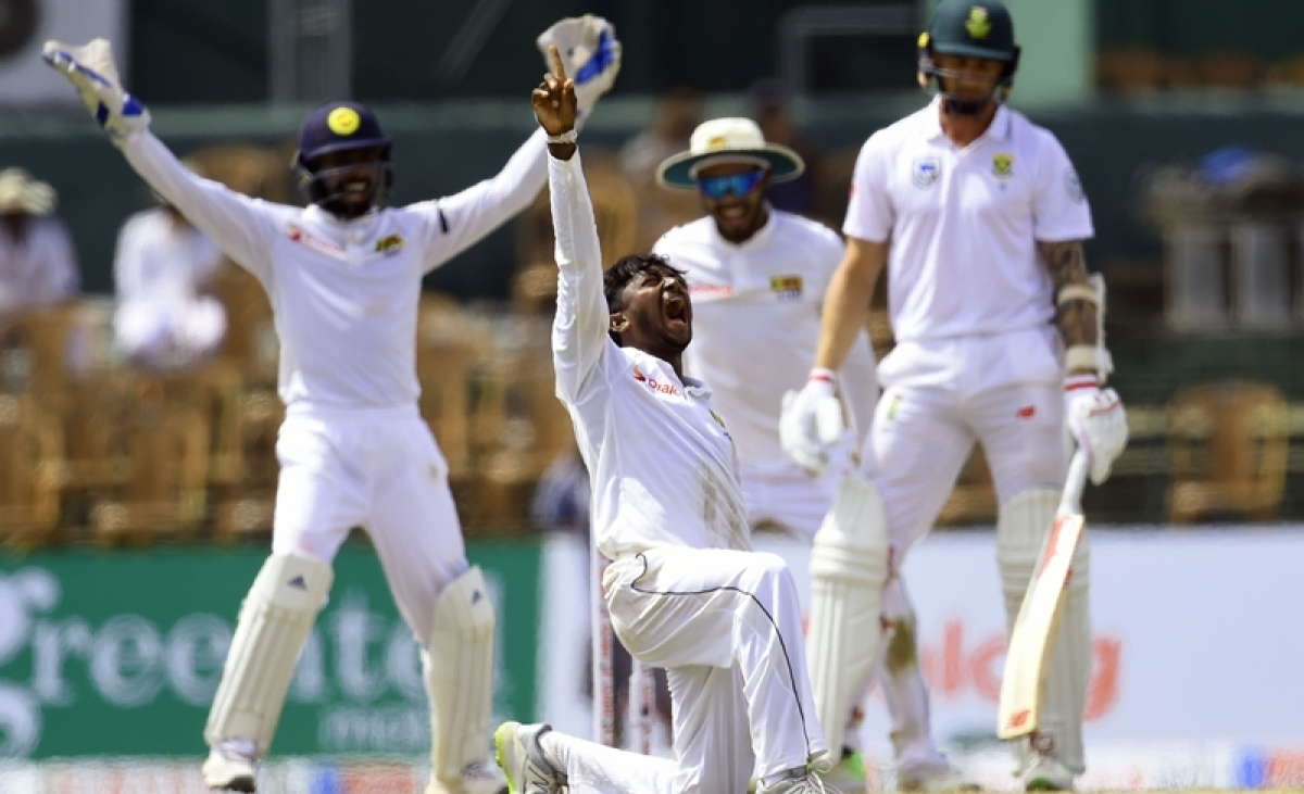 Sri Lanka vs South Africa 2nd Test Day 2: Dananjaya strikes as Proteas crumbled at 124 all out