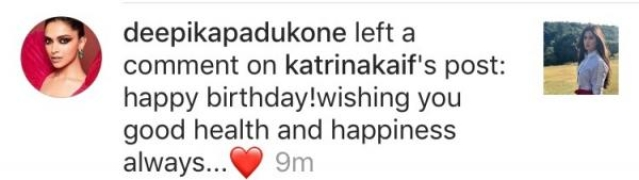 From one Ranbir Kapoor ex to another! Deepika Padukone wishes Katrina Kaif on her 35th birthday
