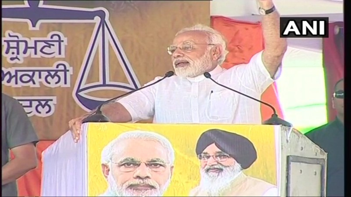 Farmers hold protest as PM Narendra Modi arrives in Punjab for farmer's rally