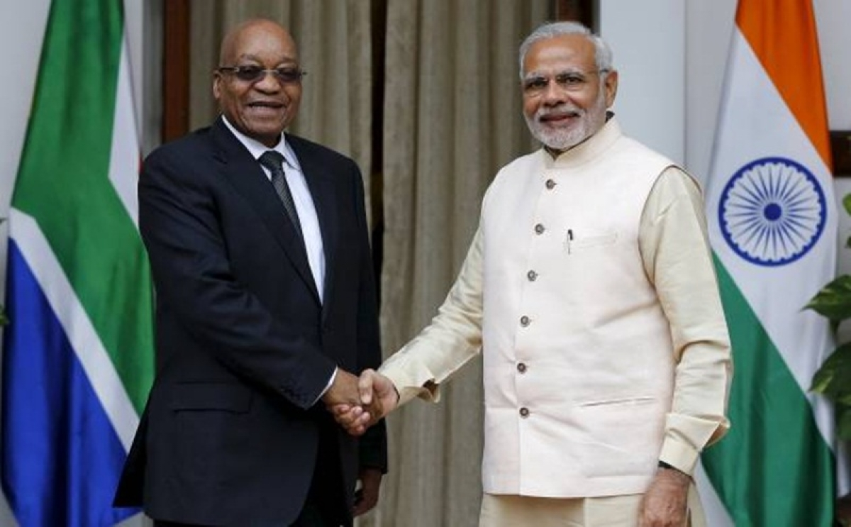 PM Narendra Modi meets South Africa President, discusses ways to boost bilateral ties